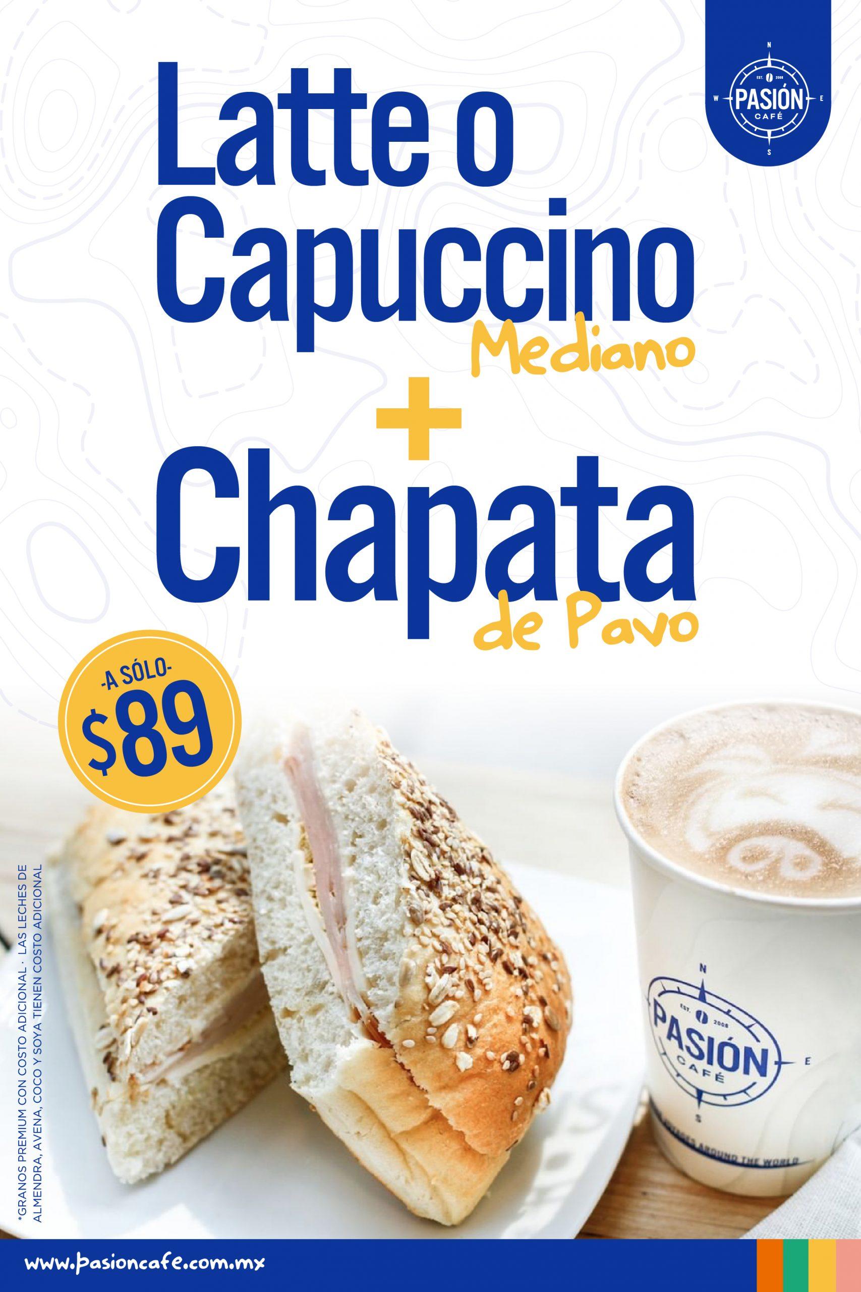 Pasión Café Capuchino + Chapata