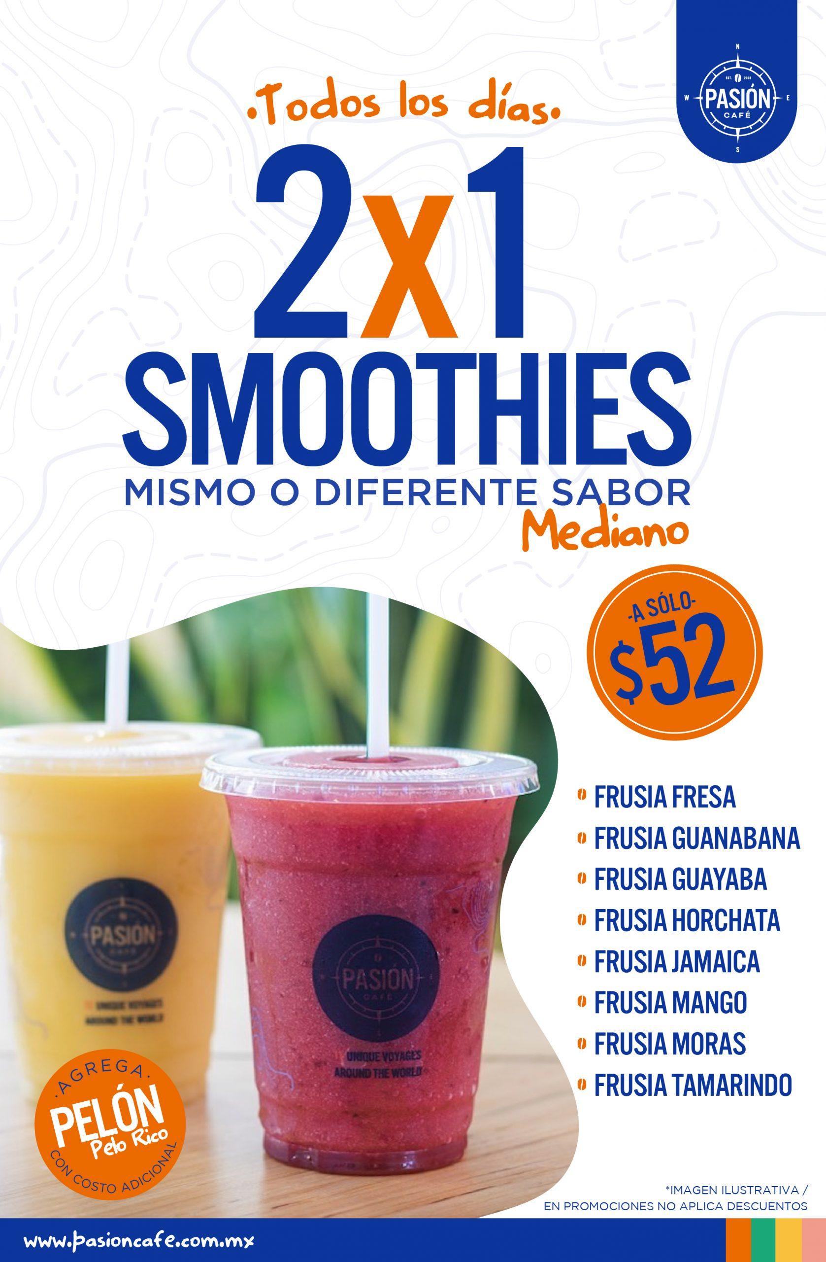 Pasión Café 2×1 Smoothies