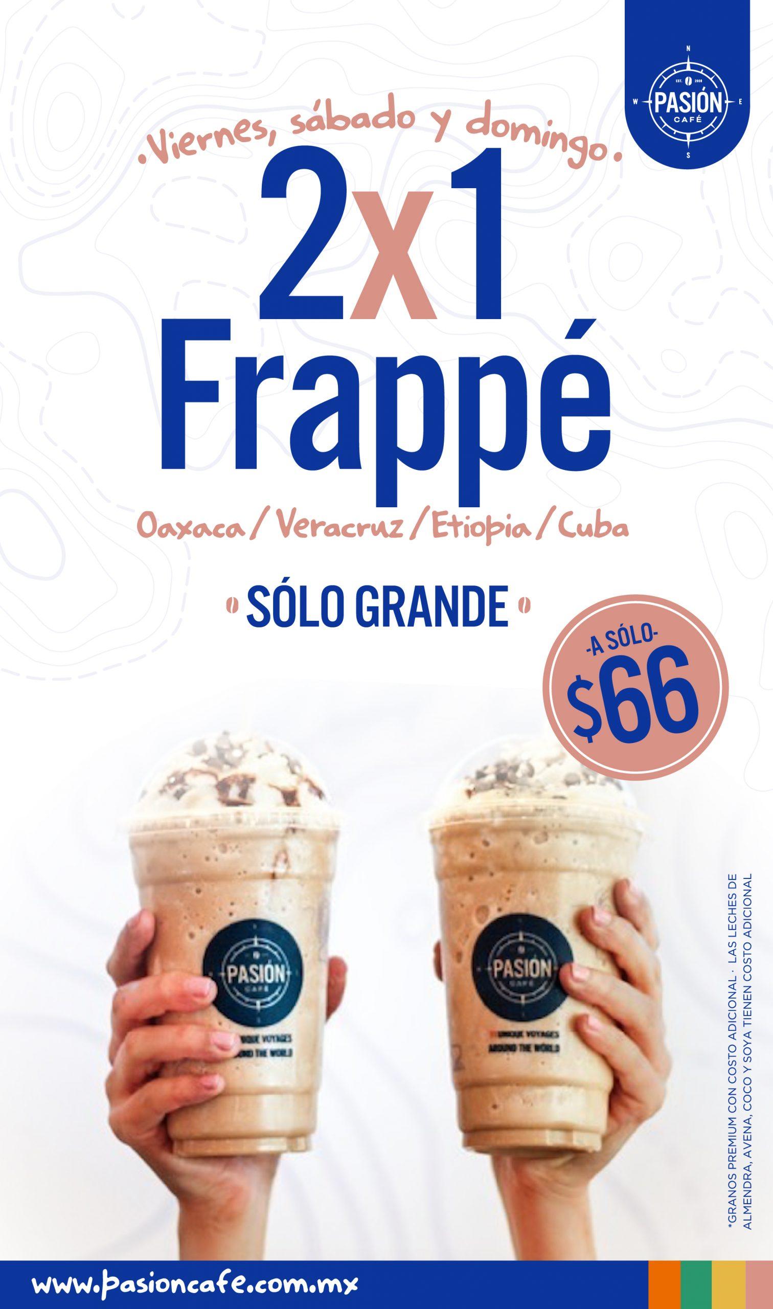 Pasión café 2×1 Frappé