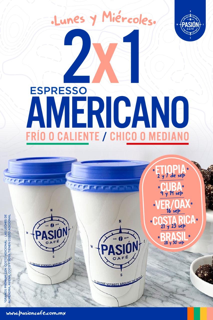 Pasión Café 2×1 Americano
