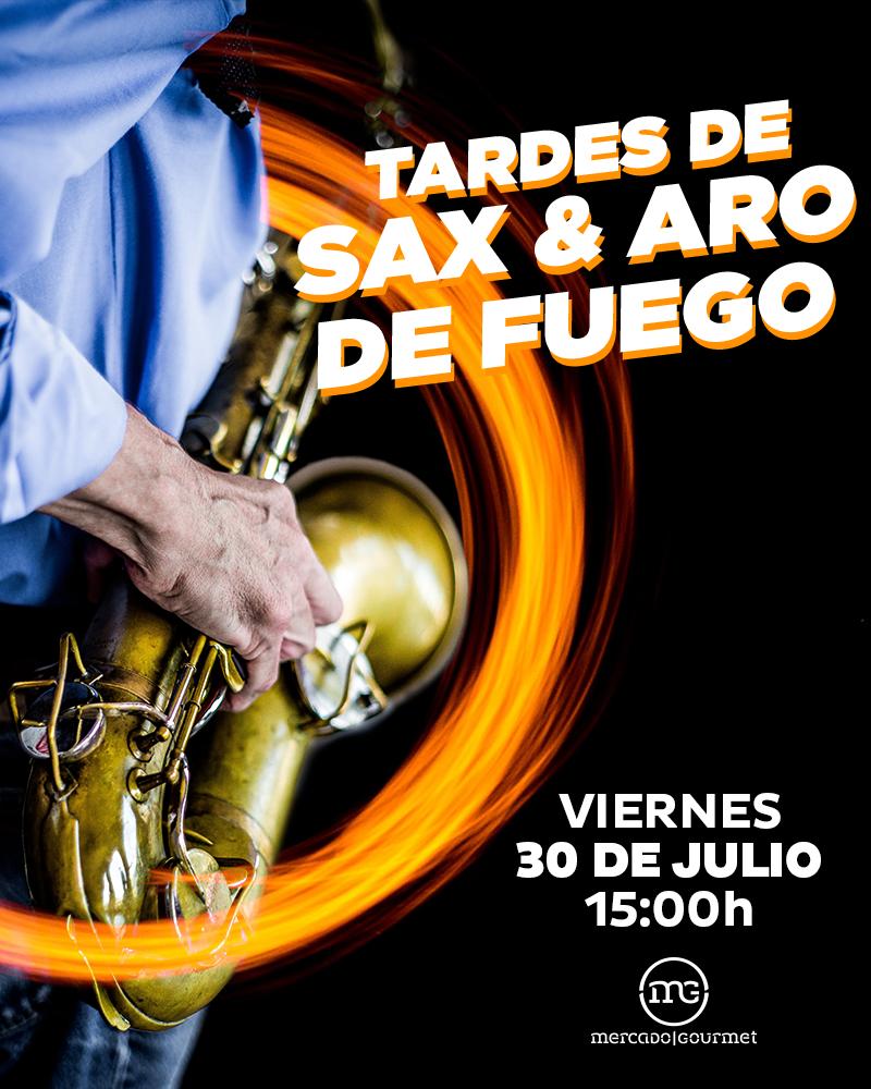 Show de Sax y Aro de Fuego