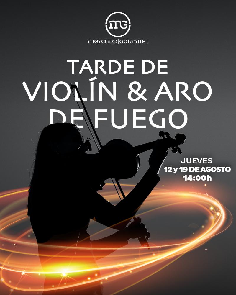 Show de Violín y Aro de Fuego